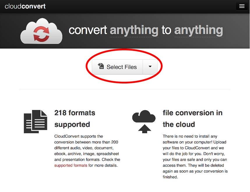 Go to [Cloud Convert](<a href=